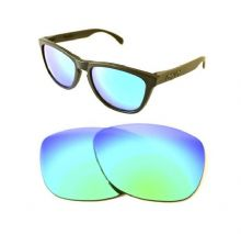 NEW POLARIZED CUSTOM GREEN LENS FOR OAKLEY FROGSKINS